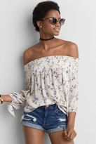 American Eagle Outfitters AE Off-The-Shoulder Long Sleeve Top