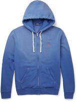 Polo Ralph Lauren Fleece-Back Cotton-Blend Jersey Zip-Up Hoodie