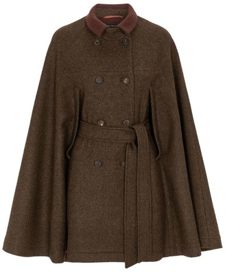 Purdey Wool Tweed Cape