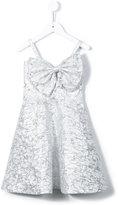 Little Bambah - slanted bow dress - kids - coton/Polyester/polyester métallisé - 4 ans