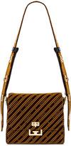 Givenchy Medium Eden Lasered Velvet Bag in Beige Camel   FWRD