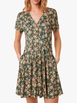 French Connection Tahki Meadow Floral Dress, Evergreen Multi