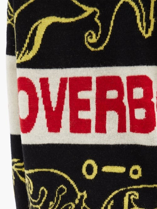 Thumbnail for your product : Charles Jeffrey Loverboy Logo-intarsia Wool-blend Sweater - Black