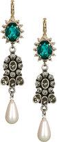 Teardrop Pearl & Crystal Earrings