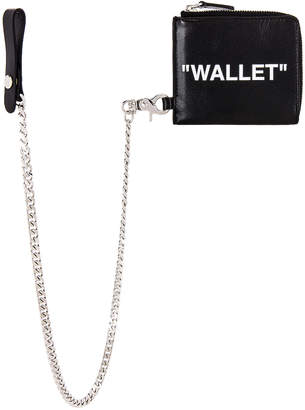 Off-White Off White Quote Chain Wallet in Black   FWRD