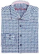 Robert Graham Boys' Check & Leaves Dress Shirt