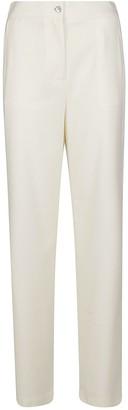 Lardini White Wool Trousers