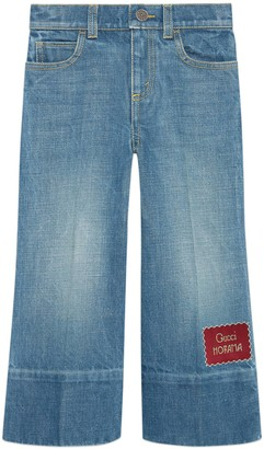 Gucci Children's denim flare pant