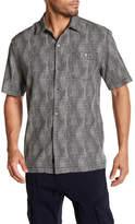 Tommy Bahama Micro-Geo Silk Short Sleeve Regular Fit Shirt