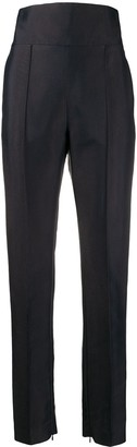 Alexandre Vauthier High-Waisted Raised Seam Trousers