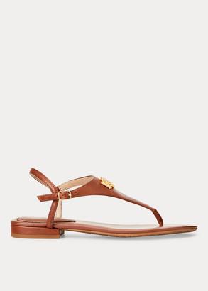 Ralph Lauren Ellington Leather Sandal
