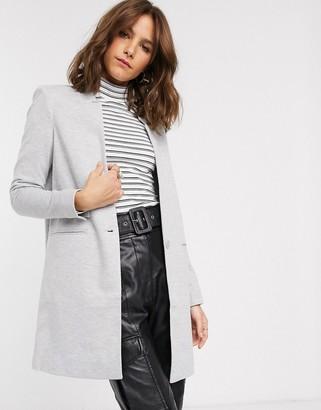 Vero Moda Vero Modalong single breasted blazer-Grey