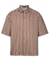 Lanvin boxy striped short sleeve shirt