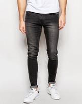 Criminal Damage Skinny Jeans In Acid Wash