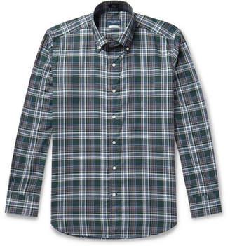 Peter Millar Suffolk Button-Down Collar Checked Cotton Shirt