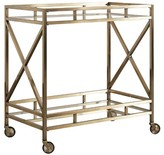 Inspire Q Eloise Metal + Glass Bar Cart - Antique Brass