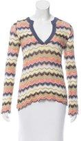 M Missoni Pattern Long Sleeved Sweater