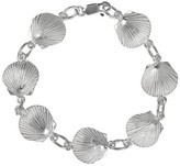 Journee Collection Women's Sterling Silver Seashell Link Bracelet - Silver