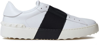 Valentino Rockstud Two-tone Leather Sneakers