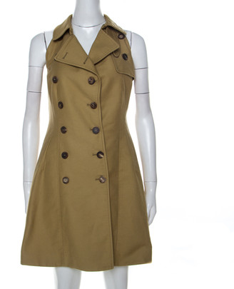 McQ Beige Cotton Trench Style Dress M