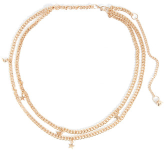 Fantas-Eyes Star and Moon Chain Belt Gold S