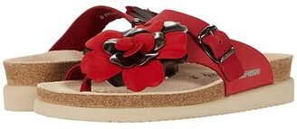 Mephisto Helen Flower (Light Taupe Sandalbuck) Women's Shoes