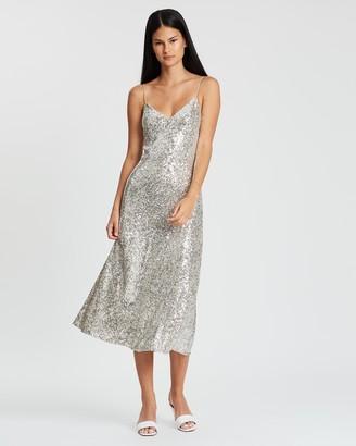 Whistles Dagma Sequin Slip Dress