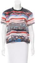 Opening Ceremony Silk Printed Top