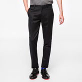 Paul Smith Men's Slim-Fit Black Stretch-Cotton Twill Trousers