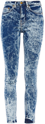Victoria Victoria Beckham Bleached High-rise Skinny Jeans