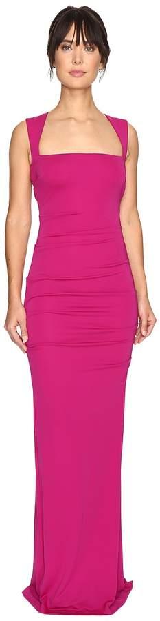 Nicole Miller Felicity Open Back Jersey Gown Women's Dress