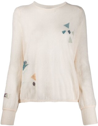 Forte Forte Relaxed-Fit Geometric-Pattern Jumper