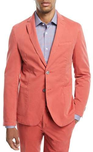 BOSS Washed Cotton Two-Button Blazer