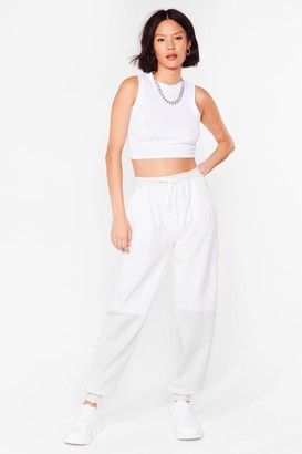 Nasty Gal Womens Blast From the Contrast High-Waisted Joggers - Grey - 6