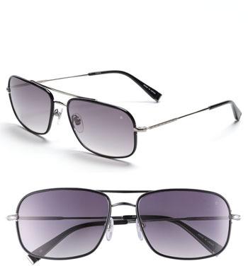 John Varvatos Collection 58mm Rectangular Aviator Sunglasses