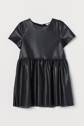 H&M Faux Leather Dress - Black