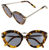 Karen Walker Women's 'Lunar Flowerpatch' 49Mm Sunglasses - Crazy Tort/ Gold