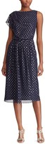 Chaps Women's Foil Dot Asymmetrical Fit & Flare Dress