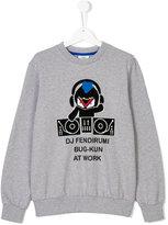 Fendi teen DJ motif sweatshirt