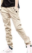 uxcell Allegra K Men Waistband Loop Front Pockets Casual Pants W