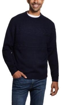 Weatherproof Vintage Men's Jacquard Yoke Crew Neck Sweater