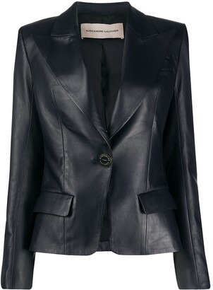 Alexandre Vauthier Fitted Leather Blazer