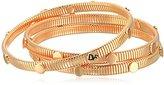 "Diane von Furstenberg Summer Disco"" Circle Snake Chain Rose Gold Bangle Bracelet"