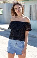PacSun High-Low Denim Paneled Mini Skirt