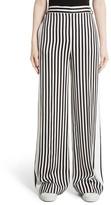 Women's Victoria, Victoria Beckham Stripe Wide Leg Tuxedo Pants