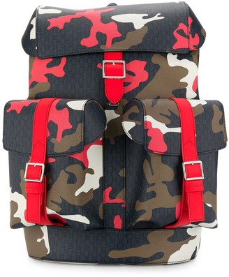 BOSS Camouflage Print Backpack