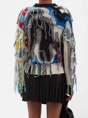 Charles Jeffrey Loverboy Guddle Tasselled Wool-blend Sweater - Black Multi