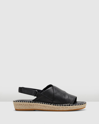 Hush Puppies Women's Black Flat Sandals - Birch - Size One Size, 5 at The Iconic