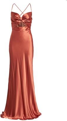 Mason by Michelle Mason Twist Sweetheart Silk Gown