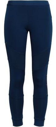 adidas by Stella McCartney Mesh-paneled Stretch Leggings